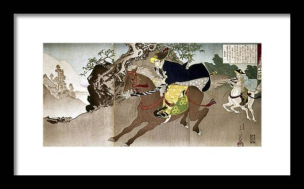 1868 Framed Print featuring the painting Japan Boshin War, 1868 by Granger