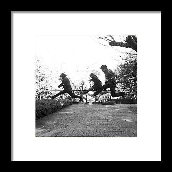 Photograph Framed Print featuring the photograph #japan #jump #people#newyear by Tokyo Sanpopo