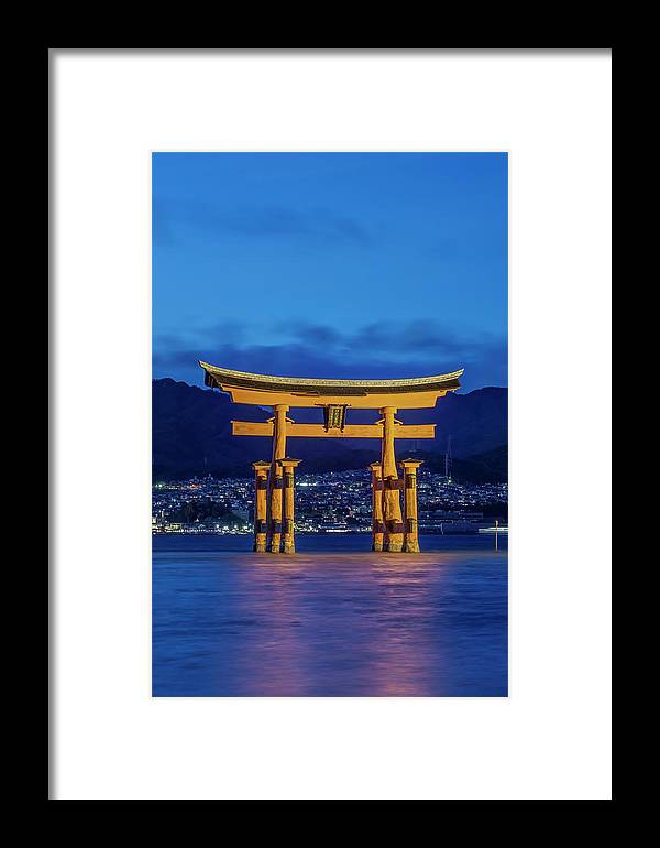 Architecture Framed Print featuring the photograph Japan, Miyajima, Itsukushima Shrine by Rob Tilley