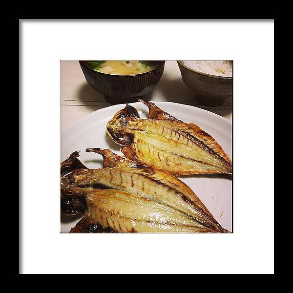 Food Framed Print featuring the photograph #japan#food by Tokyo Sanpopo