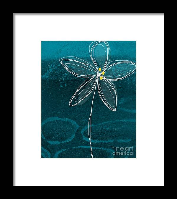 Abstract Framed Print featuring the painting Jasmine Flower by Linda Woods