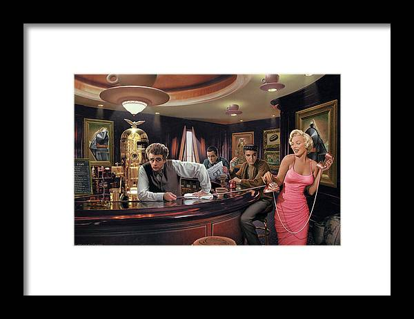 Marilyn Monroe Framed Print featuring the painting Java Dreams by Chris Consani