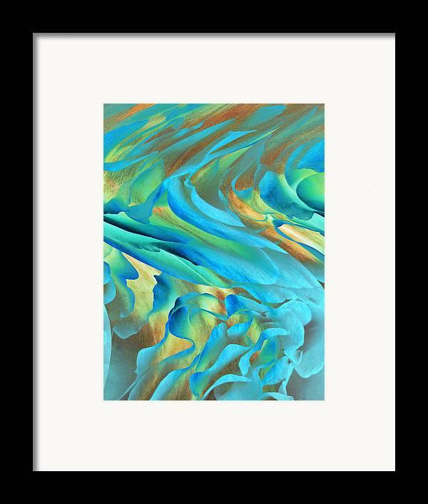 Abstract Art Framed Print featuring the digital art Jazz by Ann Powell