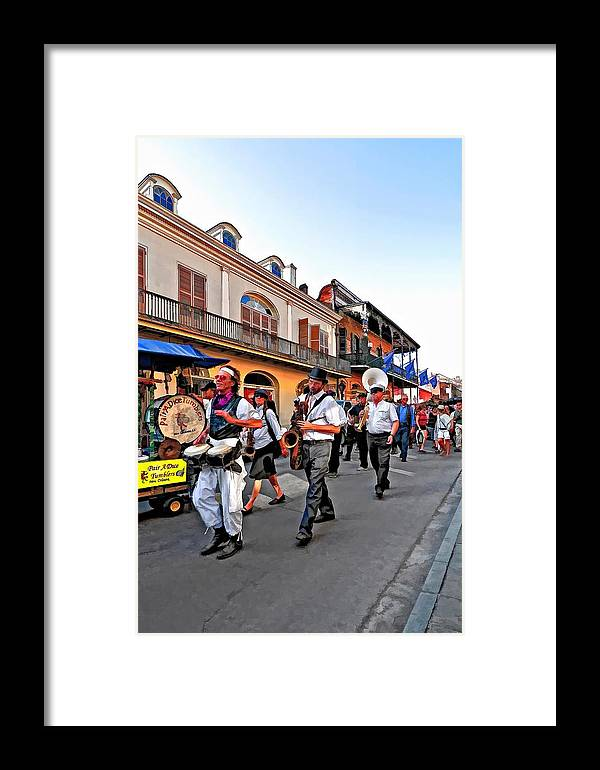 French Quarter Framed Print featuring the photograph Jazz Funeral by Steve Harrington