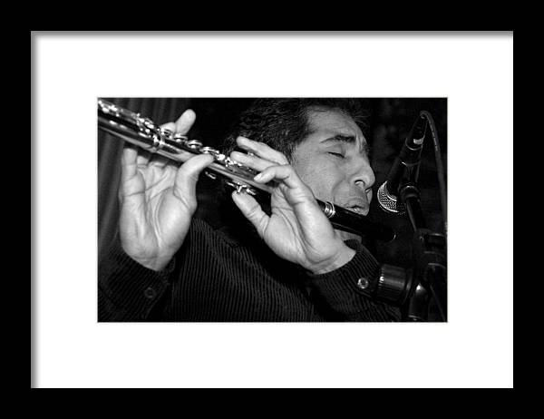 Nestor Torres Framed Print featuring the photograph Jazz Soul by Gilberto Gutierrez
