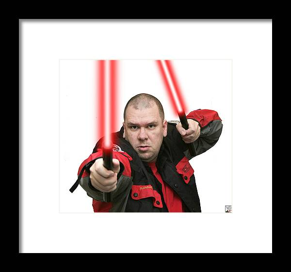 Jedi Master Randall M Rueff And Lightsaber Thirty Four Framed Print featuring the photograph Jedi Master Randall M Rueff And Lightsaber Thirty Four by Randall M Rueff