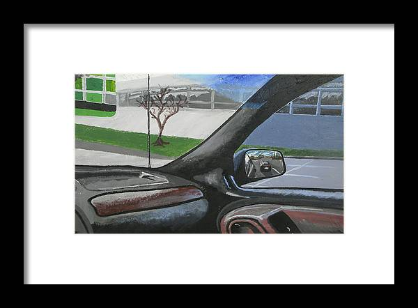 Car Framed Print featuring the painting Jeep Corner by Troy Howard