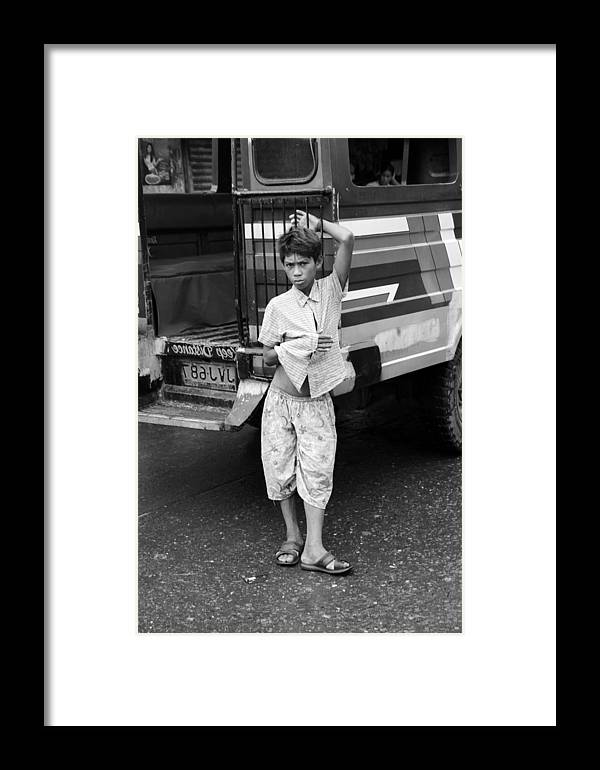 Jezcself Framed Print featuring the photograph Jeepney Stance by Jez C Self