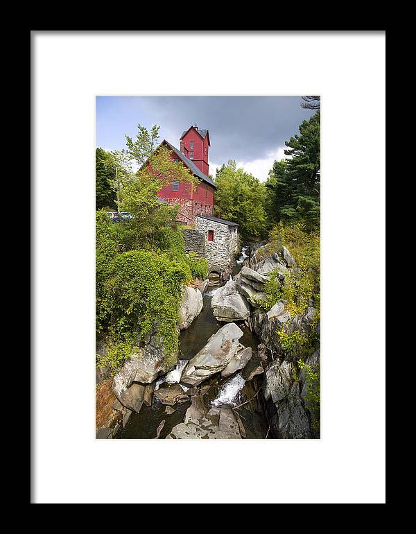 Vertical Framed Print featuring the photograph Jericho Mill by Jim Wallace