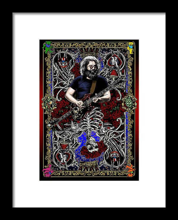 Jerry Garcia Framed Print featuring the painting Jerry Card by Gary Kroman
