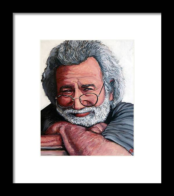Jerry Framed Print featuring the painting Jerry Garcia by Tom Roderick