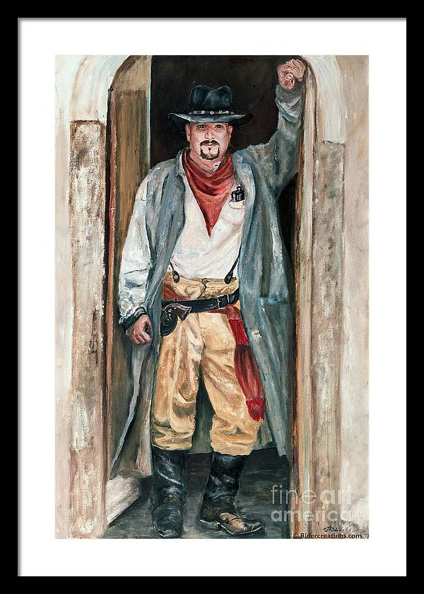 Cowboy Framed Print featuring the painting Jesse by CJ Rider