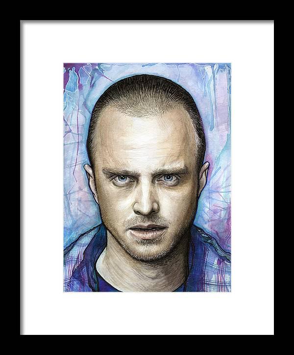 Jesse Pinkman - Breaking Bad Framed Print by Olga Shvartsur