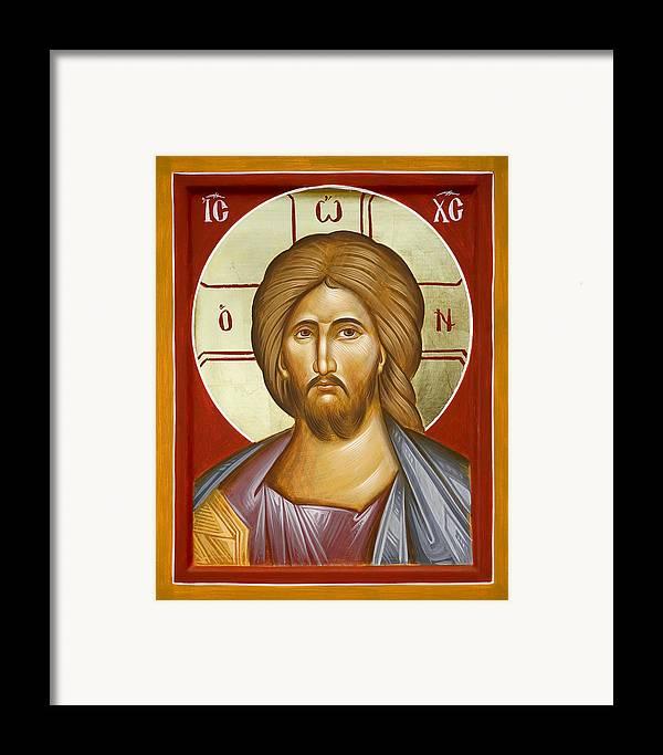 Jesus Christ Framed Print featuring the painting Jesus Christ by Julia Bridget Hayes
