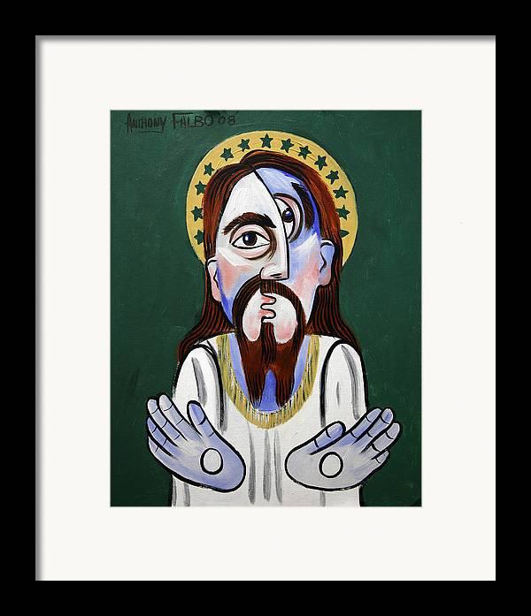 Jesus Christ Superstar Framed Print featuring the painting Jesus Christ Superstar by Anthony Falbo