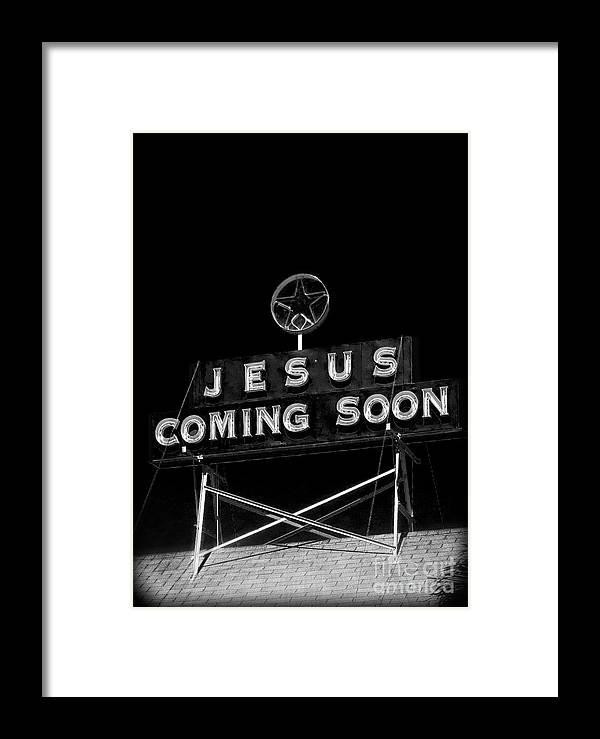 Jesus Coming Soon Framed Print By Edward Fielding