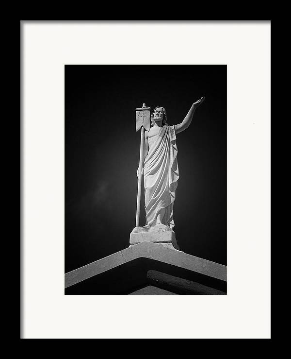Saint Framed Print featuring the photograph Jesus St Louis Cemetery No 3 New Orleans by Christine Till