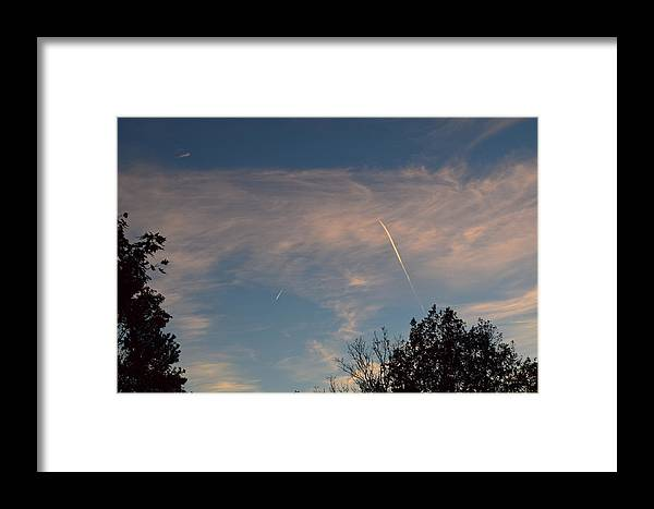 Clouds Framed Print featuring the photograph Jet Art 35 by Lawrence Hess