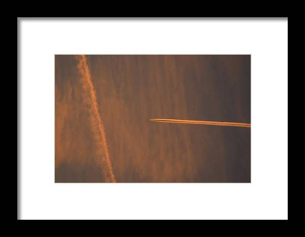 Clouds Framed Print featuring the photograph Jet Art 55 by Lawrence Hess
