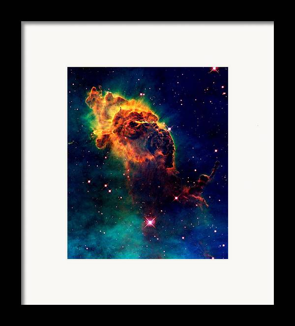 Hubble Framed Print featuring the photograph Jet In Carina by Amanda Struz