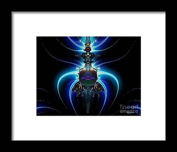 2-dimensional Framed Print featuring the digital art Jet Pack by Dana Haynes