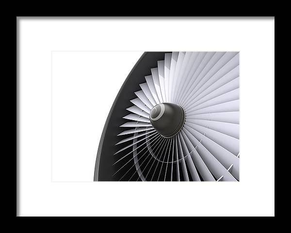 Engine Framed Print featuring the photograph Jet Turbine by Klenger