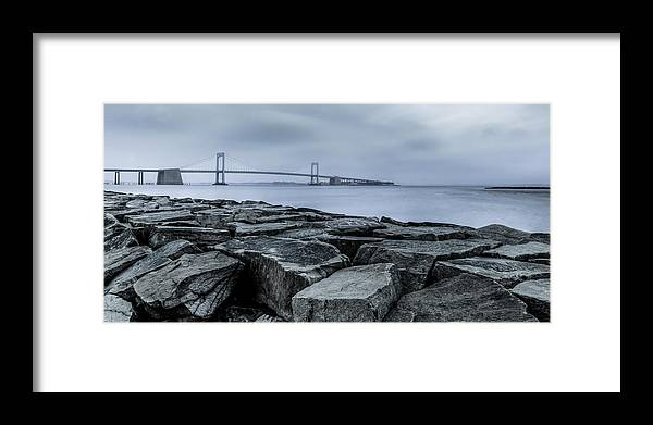Bayside Framed Print featuring the photograph Jetty At Fort Totten by David Hahn