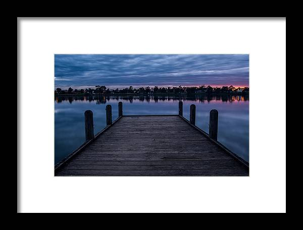 Jetty Framed Print featuring the photograph Jetty At Sunrise by Heather Provan
