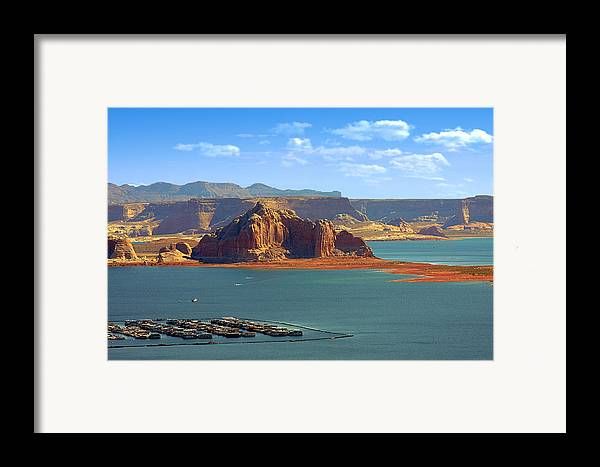 Marina Framed Print featuring the photograph Jewel In The Desert - Lake Powell by Christine Till