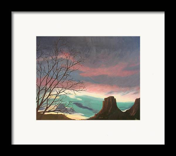 Sedona Framed Print featuring the painting Jewels In The Sky by Janis Mock-Jones