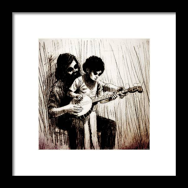 Music Framed Print featuring the drawing Jfx2014-031 by Emilio Arostegui