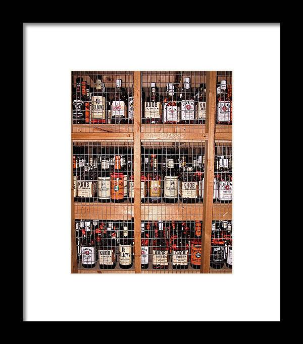Photograph Framed Print featuring the photograph Jim Beam Varieties by Marian Bell