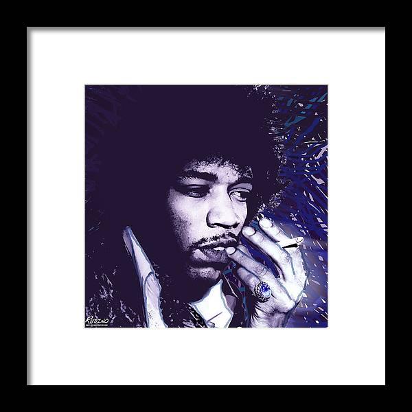 James Marshall Framed Print featuring the photograph Jimi Hendrix Purple Haze by Tony Rubino