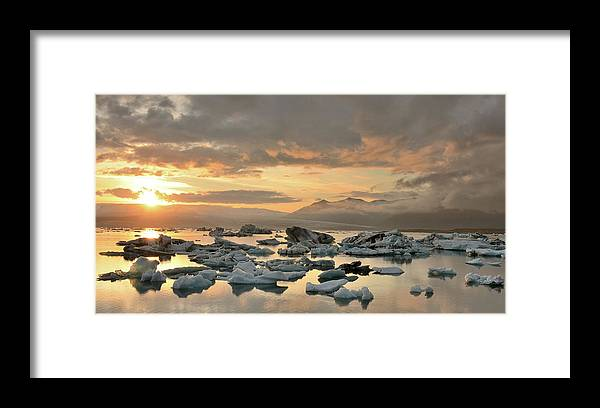 Scenics Framed Print featuring the photograph Jökulsárlón by Andreas Jones