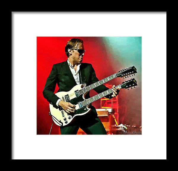 Joe Bonamassa Framed Print featuring the painting Joe Bonamassa by J Morgan Massey