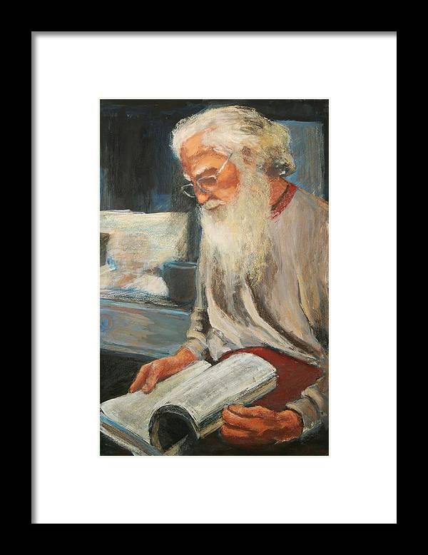 Framed Print featuring the painting Joe by Helen Hickey