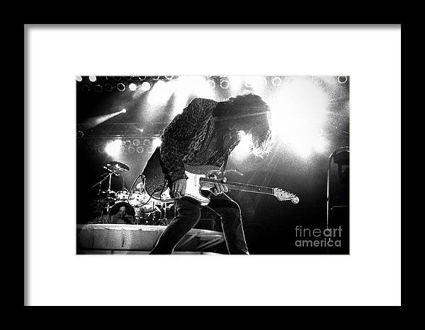 Joe Perry Framed Print featuring the photograph Joeperry-gp03 by Timothy Bischoff