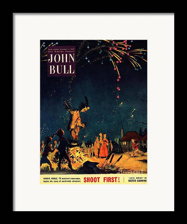 1950�s Framed Print featuring the drawing John Bull 1954 1950s Uk Guy Fawkes by The Advertising Archives