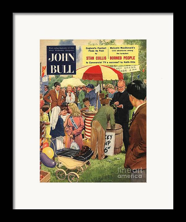 1950�s Framed Print featuring the drawing John Bull 1956 1950s Uk Schools by The Advertising Archives