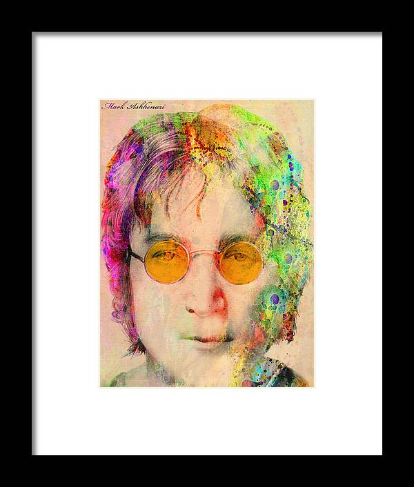 John Lennon Framed Print featuring the digital art John Lennon by Mark Ashkenazi