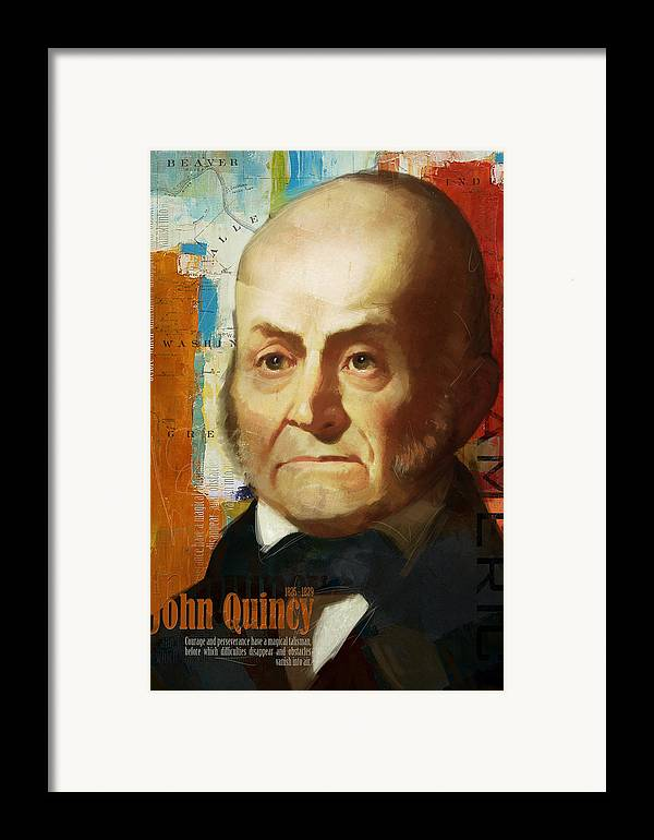 John Quincy Framed Print featuring the painting John Quincy Adams by Corporate Art Task Force