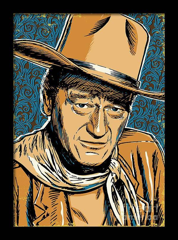John Wayne Pop Art by Jim Zahniser