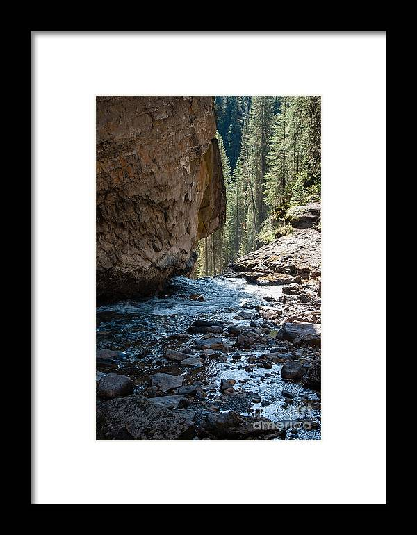 Johnson Falls Framed Print featuring the photograph Johnson Falls 2.0568 by Stephen Parker