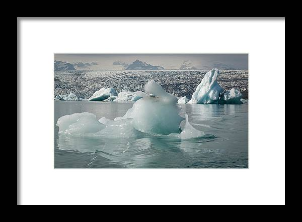 Tranquility Framed Print featuring the photograph Jokularsson Glacier Lagoon by Jamie Gordon