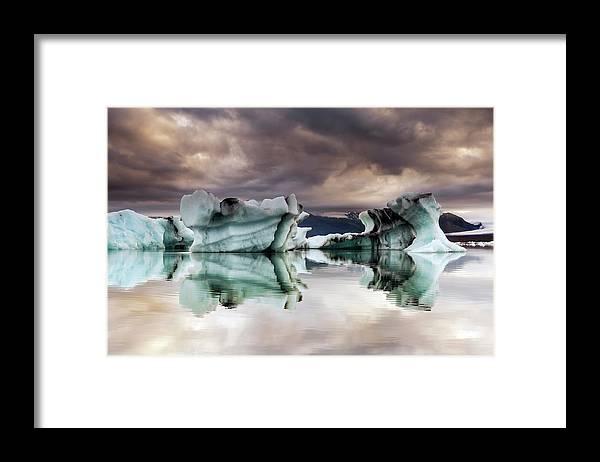 Scenics Framed Print featuring the photograph Jokulsarlon, Iceland by Gunnar Örn Árnason