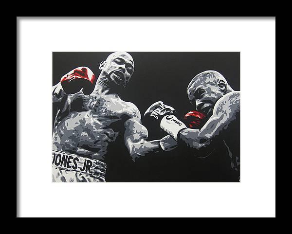 Roy Jones Jr. Framed Print featuring the painting Jones Jr vs Trinidad by Geo Thomson