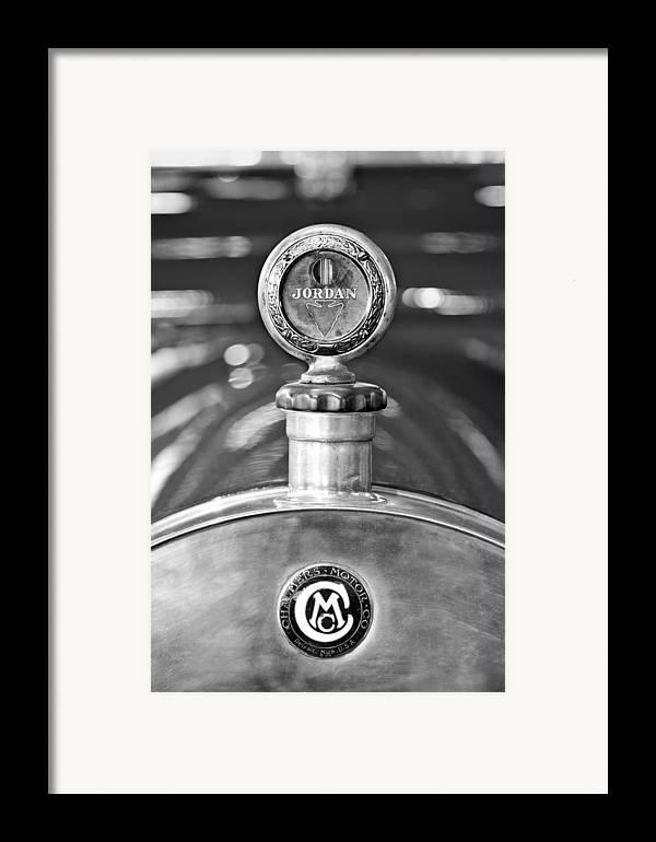 Jordan Motor Car Framed Print featuring the photograph Jordan Motor Car Boyce Motometer 2 by Jill Reger