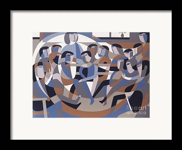 Jordan Framed Print featuring the painting Jordan Quaker Meeting 2 by Ron Waddams
