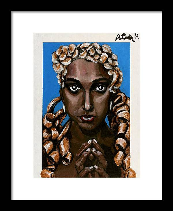 Josephine Baker Framed Print featuring the painting Josephine Baker by Adam B Cook