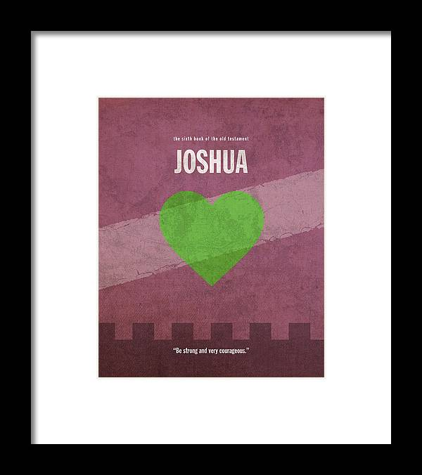 Joshua Books Of The Bible Series Old Testament Minimal Poster Art Number 6  Framed Print